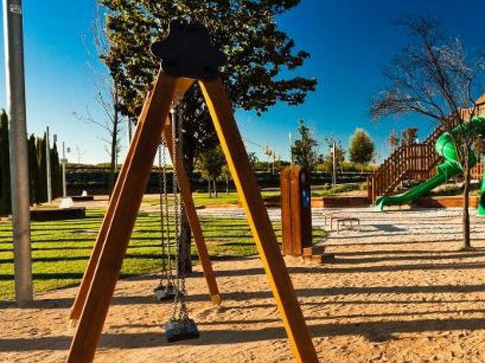 Zona infantil en el Parque del Agua