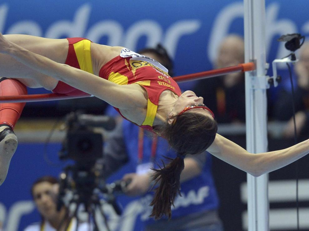 Ruth Beitia, medalla de bronce en salto de altura