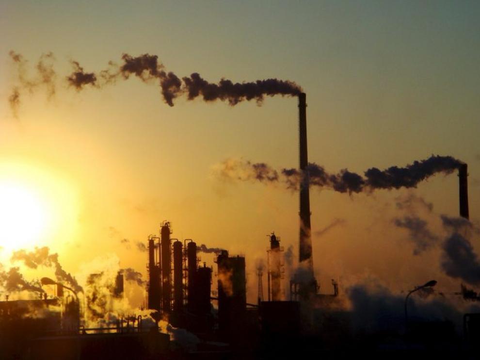 Las emisiones de gases siguen cayendo en Aragón