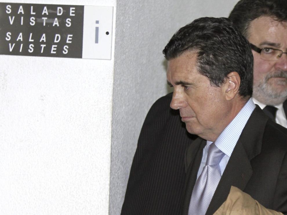 Juame Matas, expresidente balear, acude a declarar a los juzgados de Palma de Mallorca