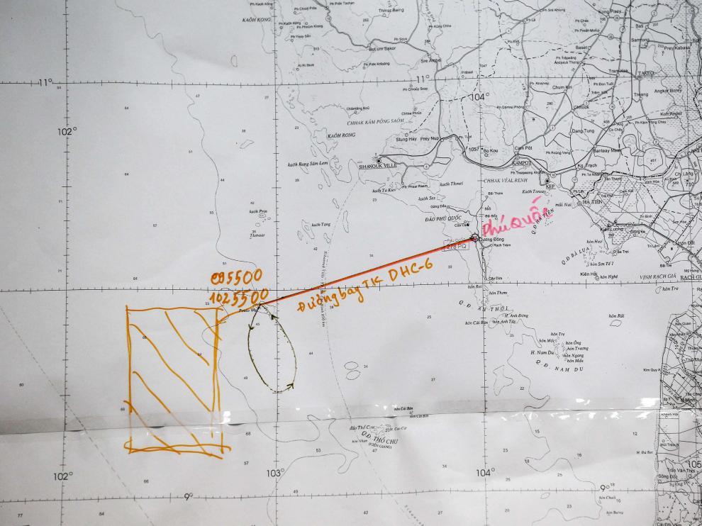 Mapa utilizado durante la búsqueda