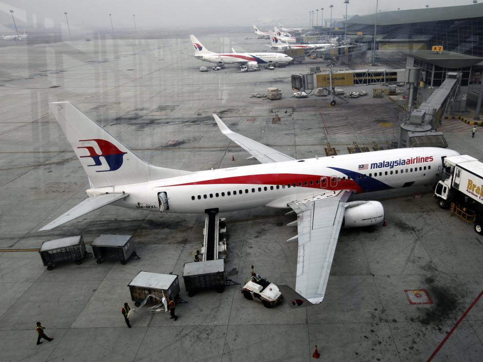 Varios aviones de Malaysia Airlines