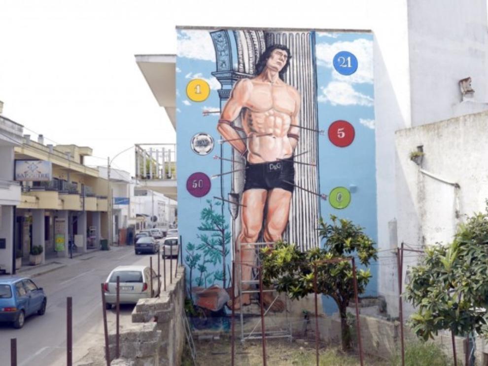 El grafiti lleva la firma de Gionata Gesi, conocido con el pseudónimo Ozmo