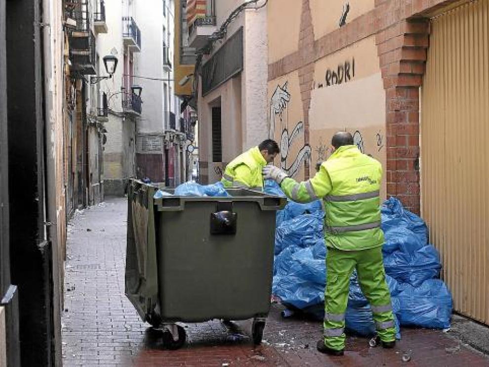 Foto de archivo del servicio de recogida de basuras