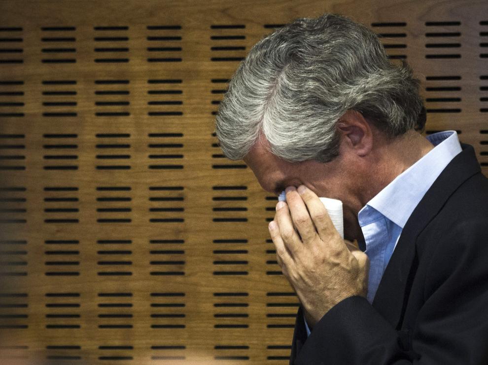 Adolfo Suárez Illana, tras la rueda de prensa en la que ha comunicado el agravamiento de salud de su padre
