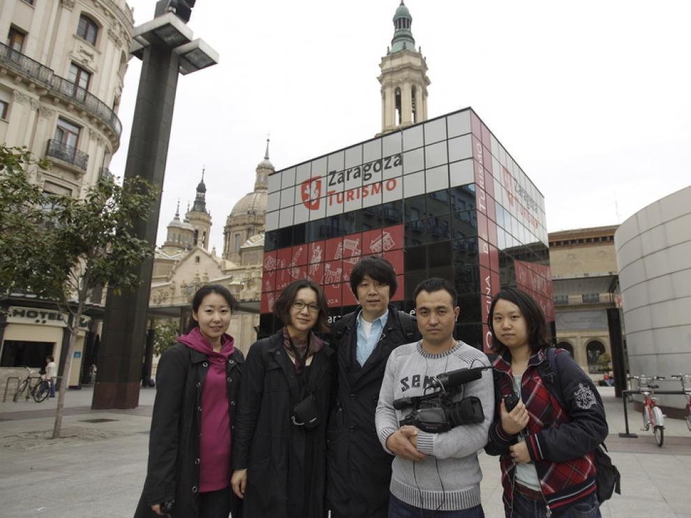 Visitantes chinos en Zaragoza