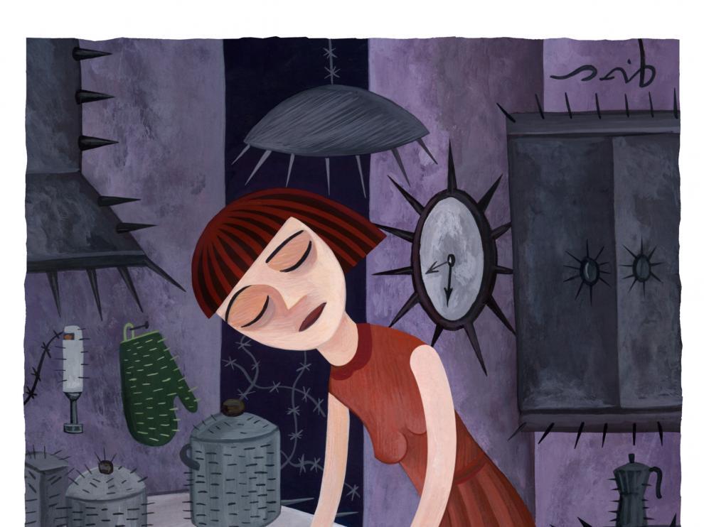 Ilustración ganadora sobre la fibromialgia.