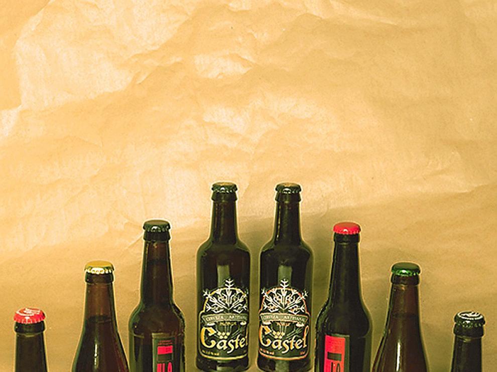 Las cervezas de Aragón que se incluyen en el 'pack'.