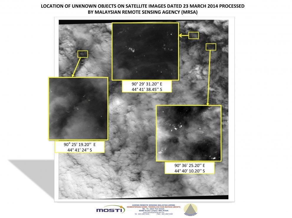 Imágenes facilitadas por un satélite francés