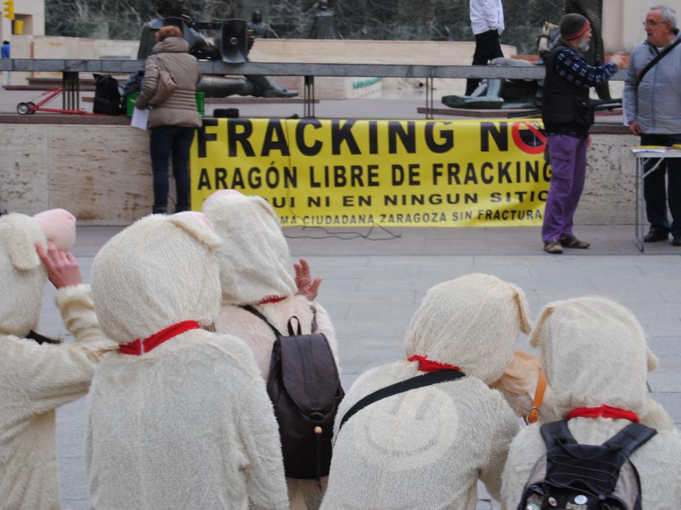Concentración contra el fracking