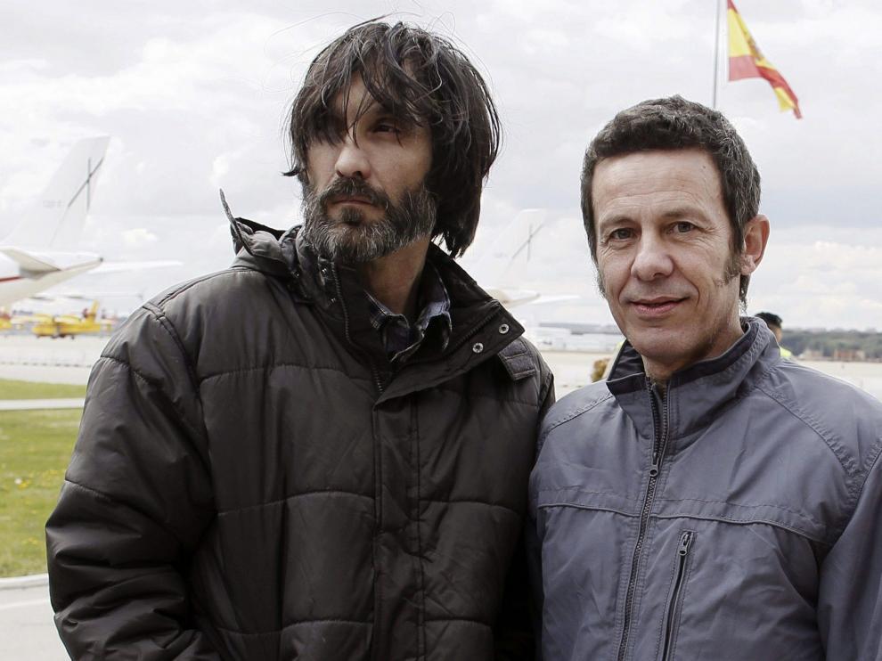 Ricardo García Vilanova y Javier Espinosa este domingo en Madrid