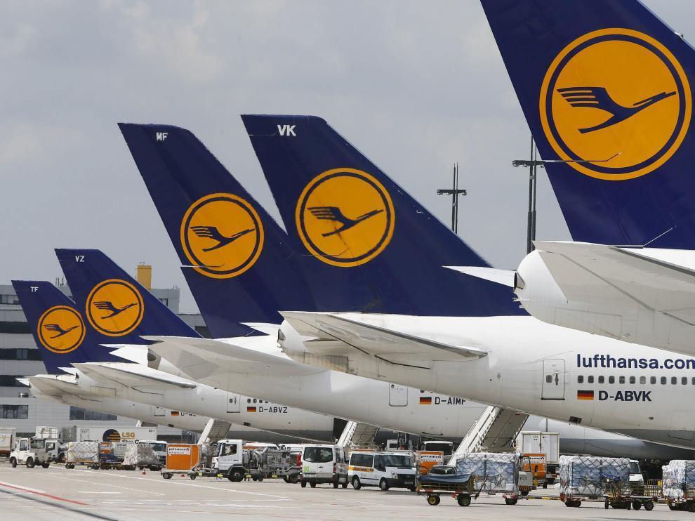 Aviones de la compañía Lufthansa