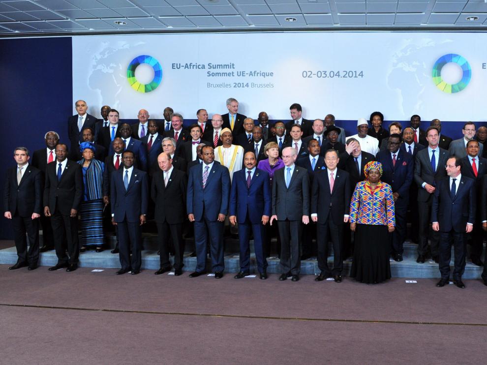 Foto de familia de la cumbre en Bruselas