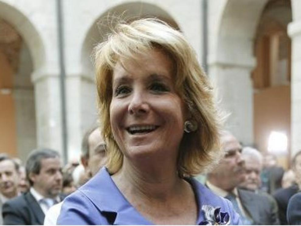 Esperanza Aguirre en Zaragoza