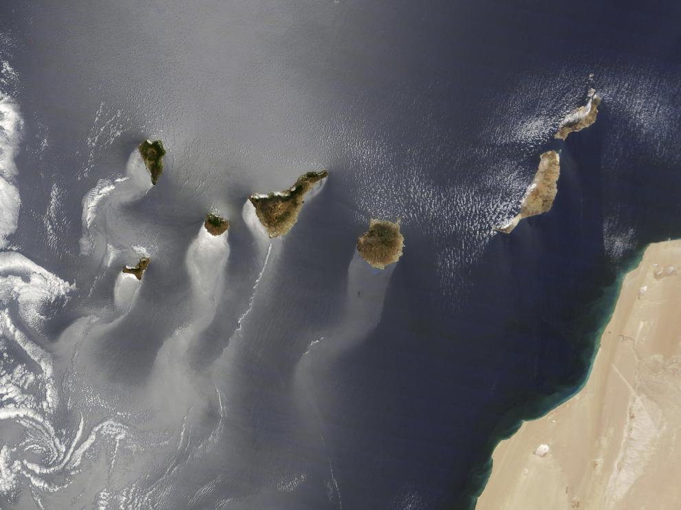 Imagen captada por el satélite Terra