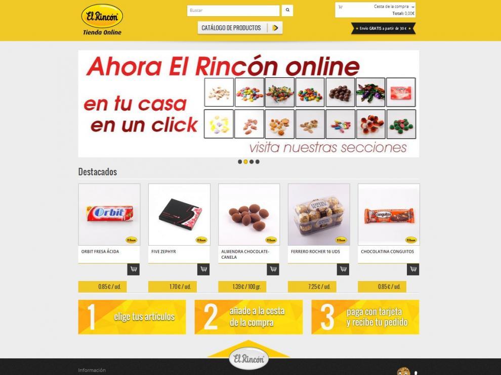Los productos de Futos Secos El Rincón, a golpe de clic.