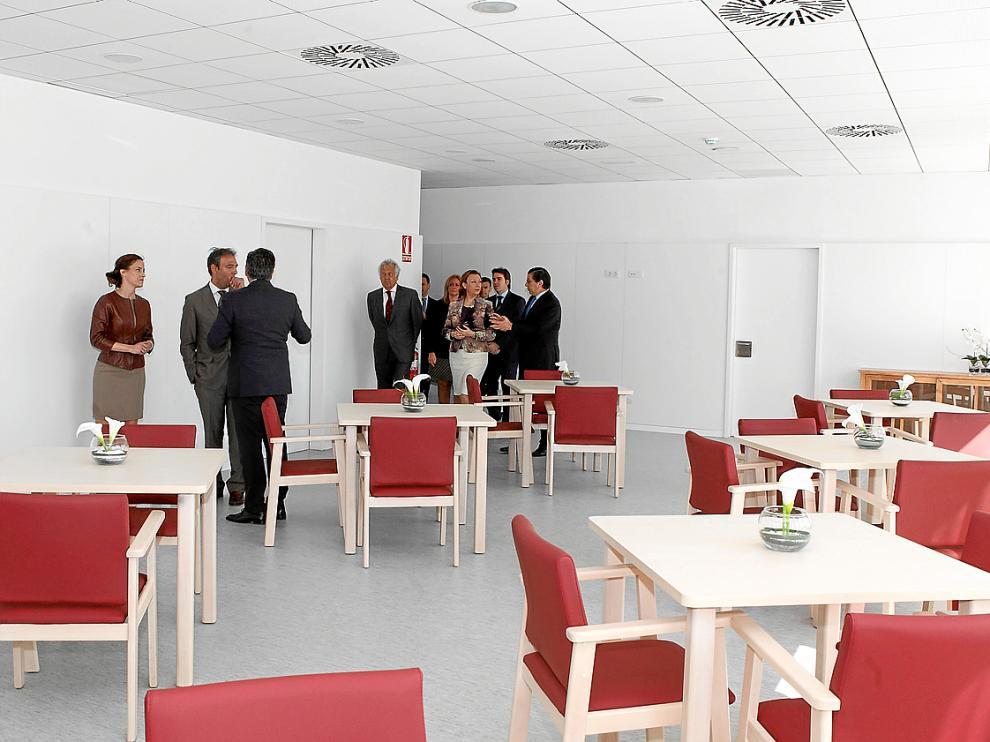 Uno de los salones que los usuarios de la nueva residencia de Utebo estrenarán la próxima semana