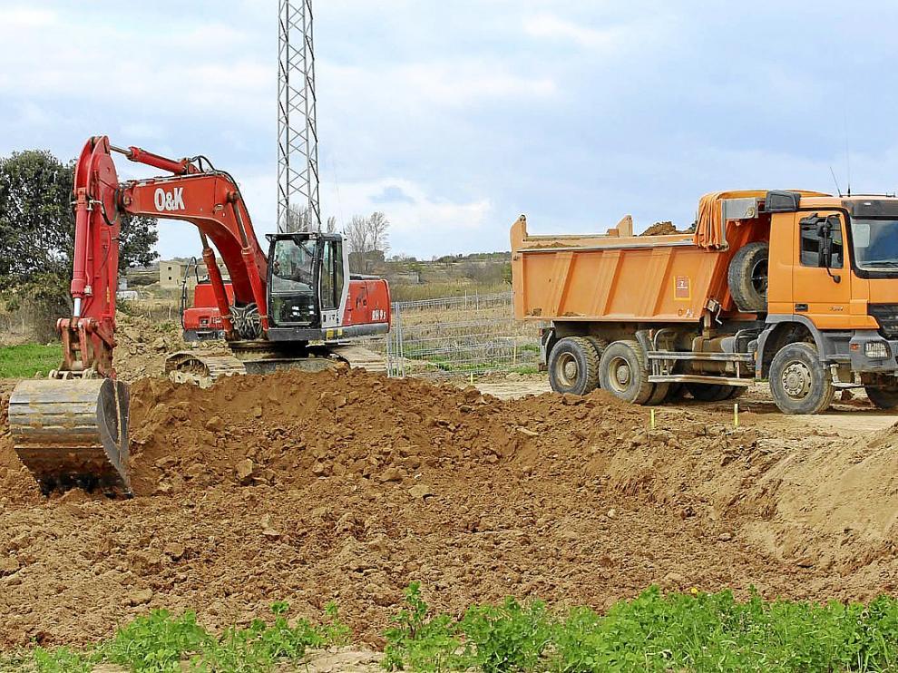 Las máquinas trabajan desde hace unas semanas en las obras de la depuradora de San Esteban