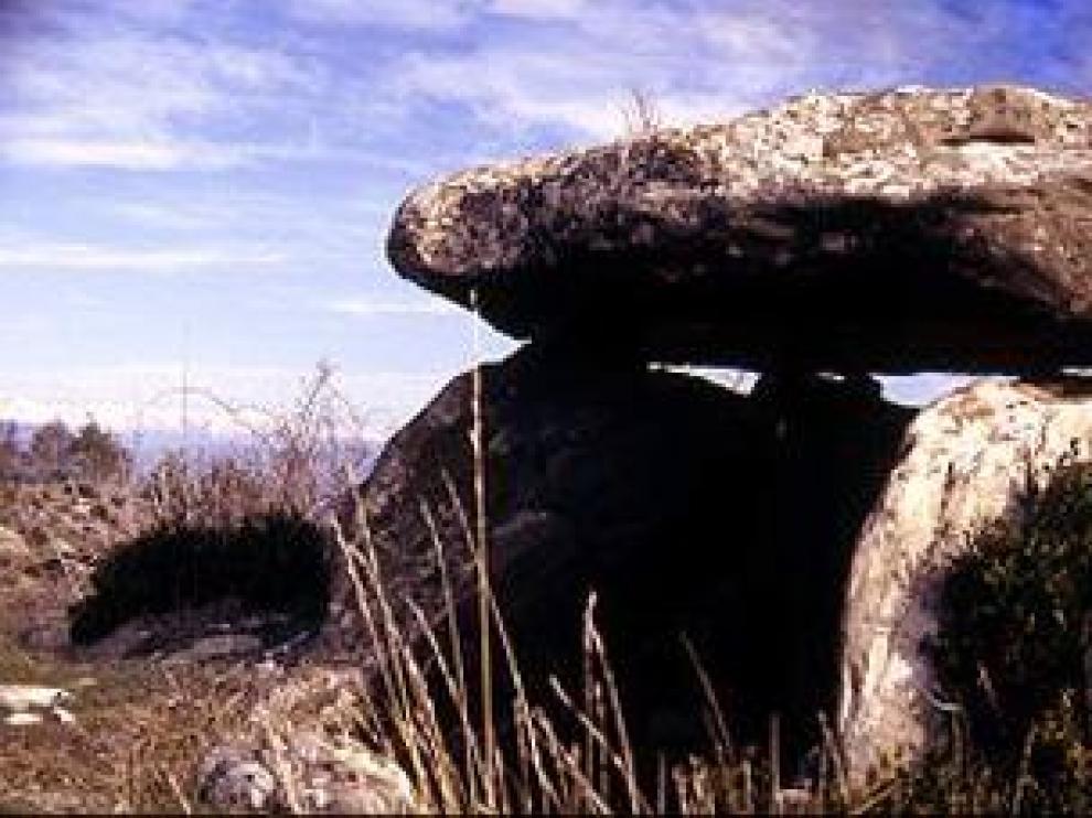 Un megalito aragonés