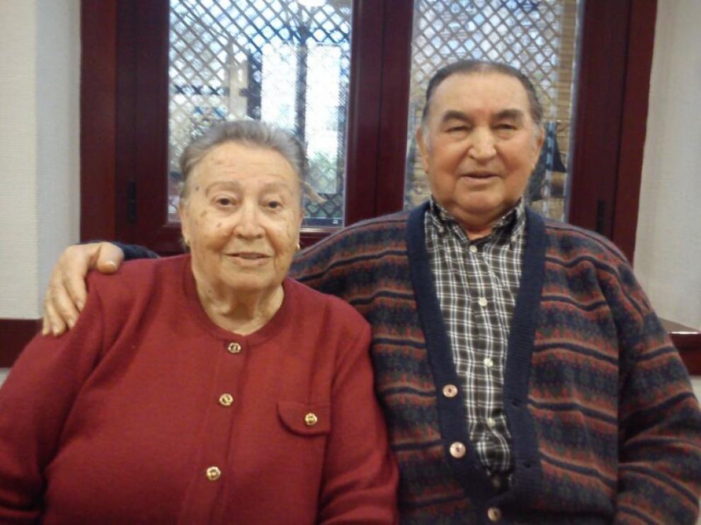 Dolores Rodrigo y Santiago Vaquero, de Cutanda, Calamocha