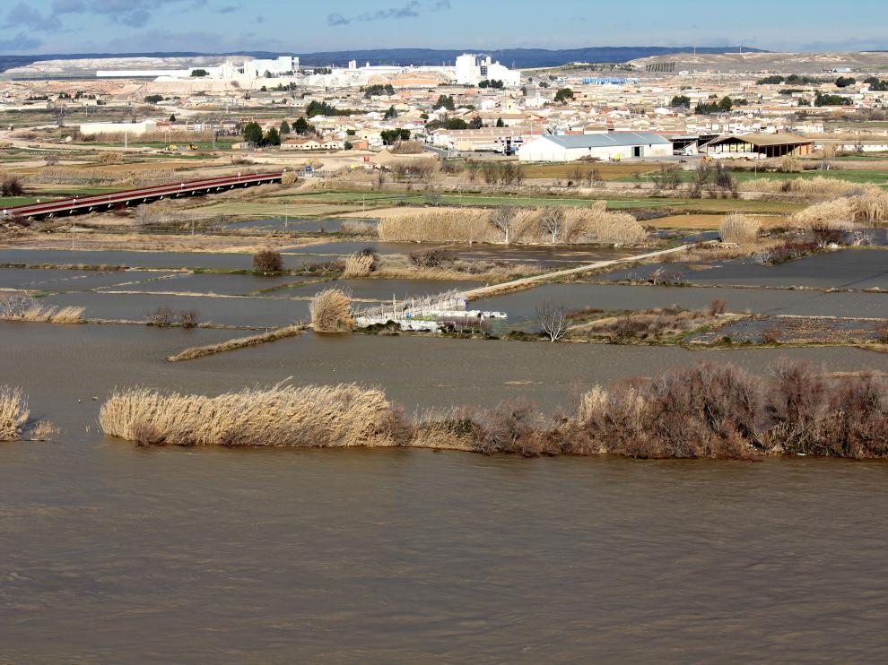 Inundaciones por las riadas de 2013 en Pina de Ebro