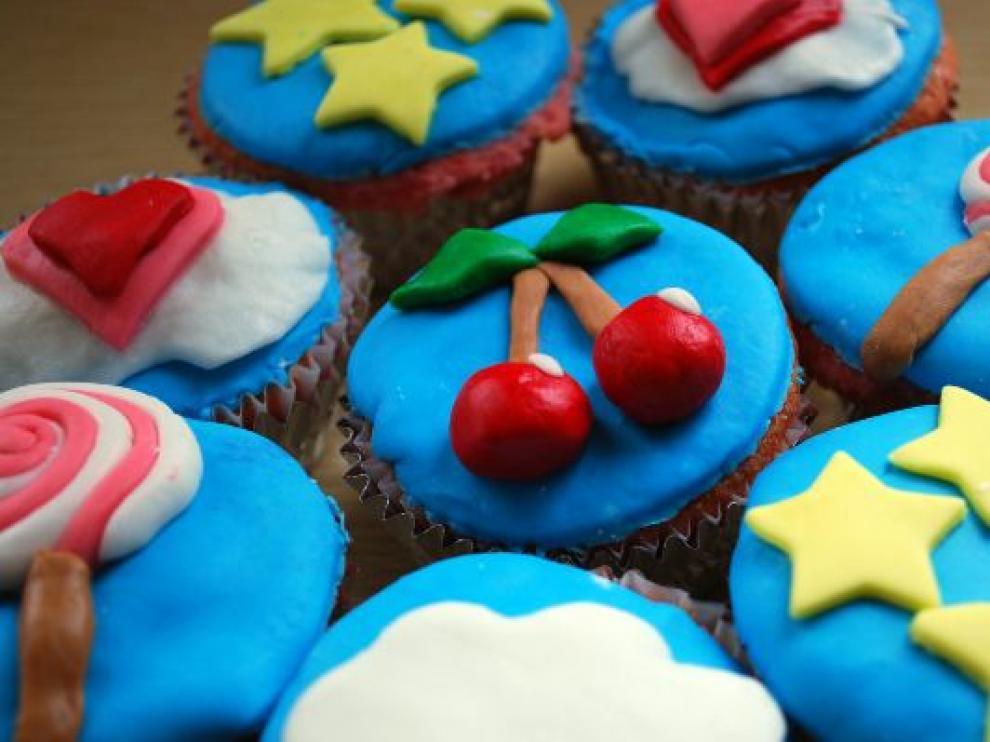 Cupcakes con diferentes motivos