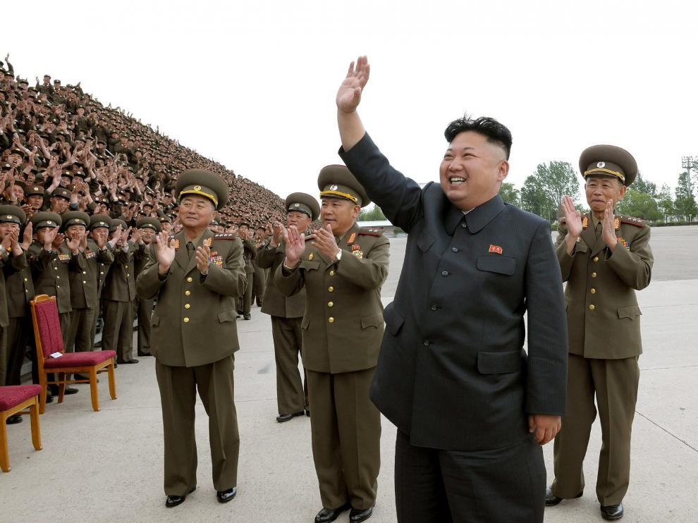 Una imagen reciente de Kim Jong-Un