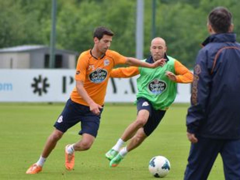Un entrenamiento del Deportivo de La Coruña