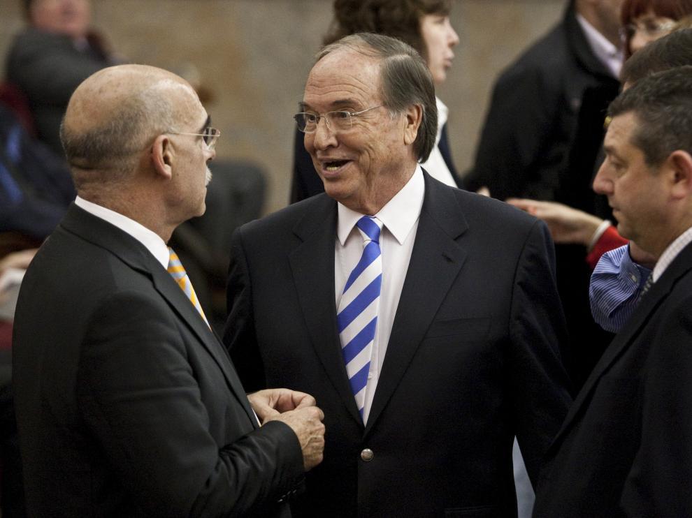 Javier Láinez, con José Ángel Zalba y Sixto Genzor