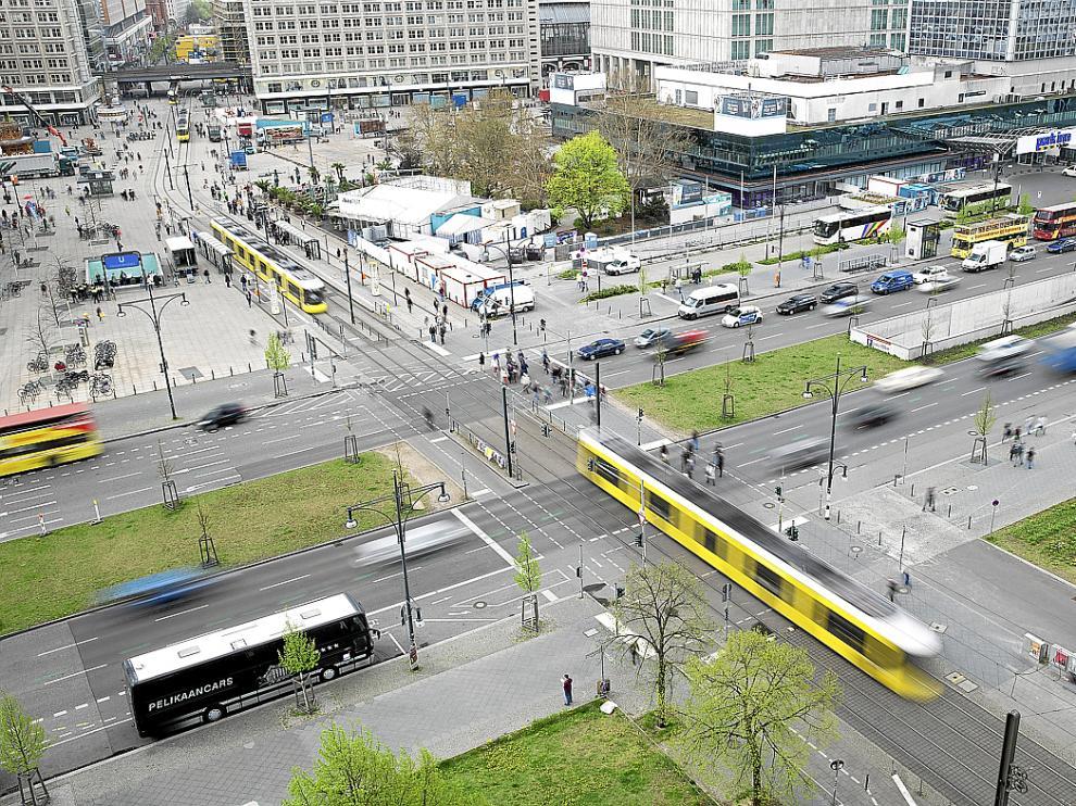 Alexanderplatz, un espacio muy urbano de la ciudad de Berlín, que participa en este proyecto.
