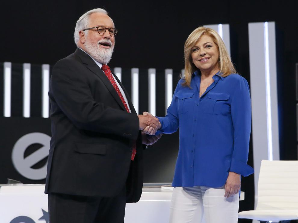 Cañete y Valenciano, en su debate televisado