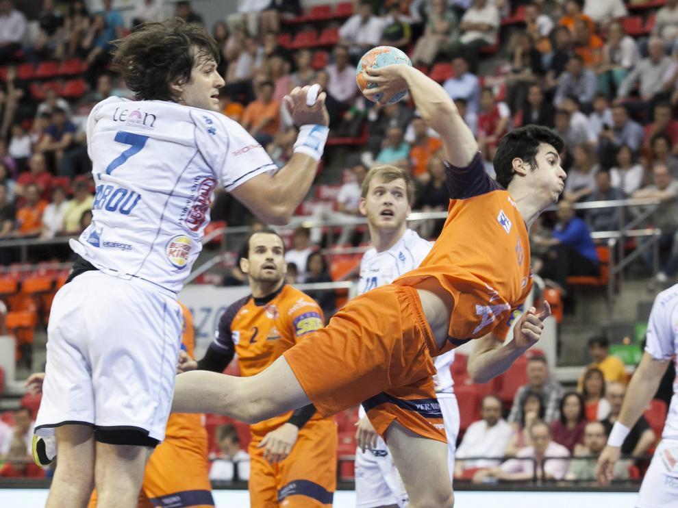 Partido del Balonmano Aragón con el Ademar