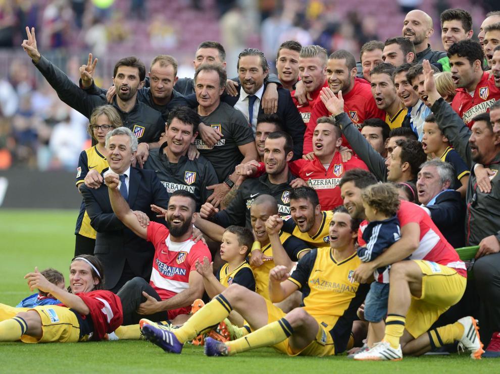 El Atlético celebra el título logrado