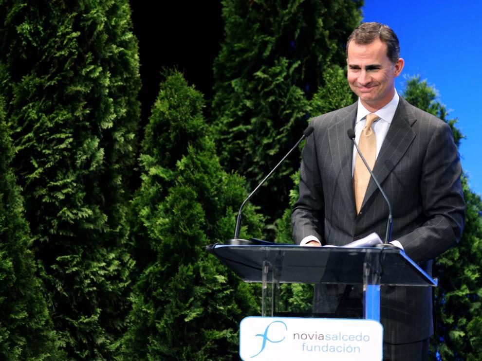 El Príncipe pronuncia un discurso