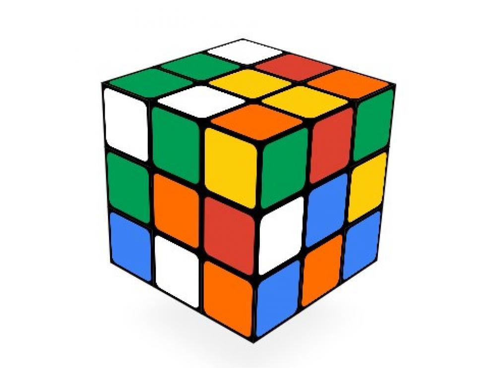 'Doodle'  dedicado al cubo de Rubik