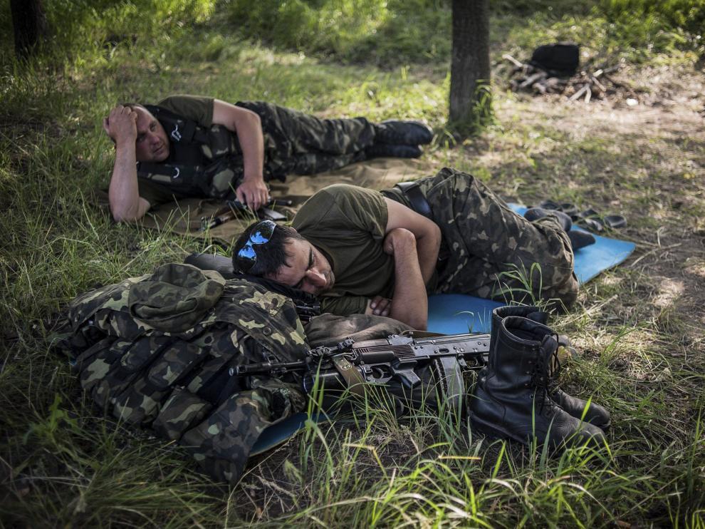 Soldados rusos en la frontera de Ucrania