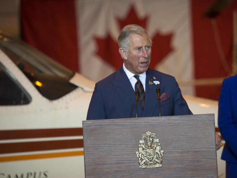 El Príncipe Carlos, de visita en Canadá