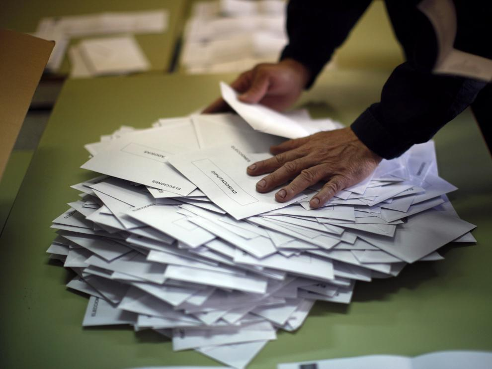Recuento de votos en un colegio electoral