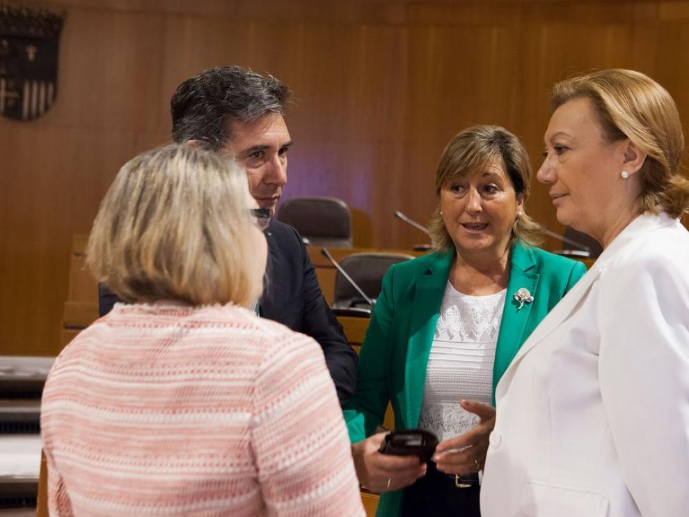 Rudi y Oliván en las Cortes de Aragón