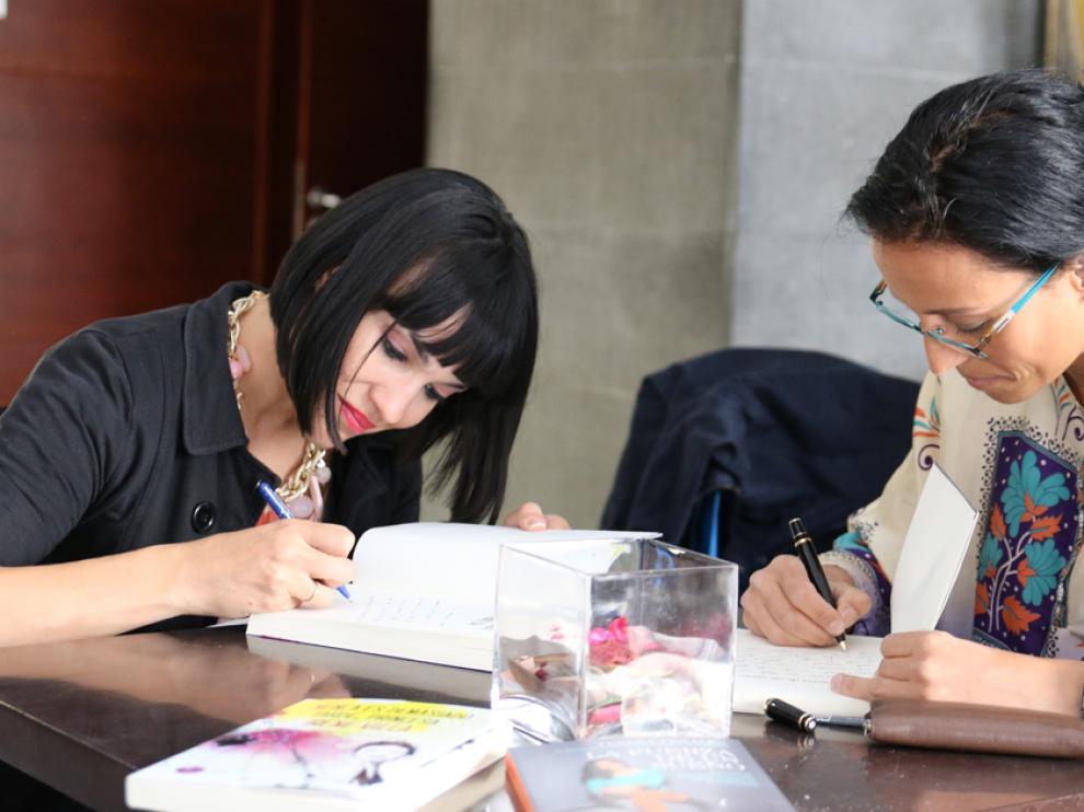 Irene Villa y Teresa Perales, en el Hotel Don Yo