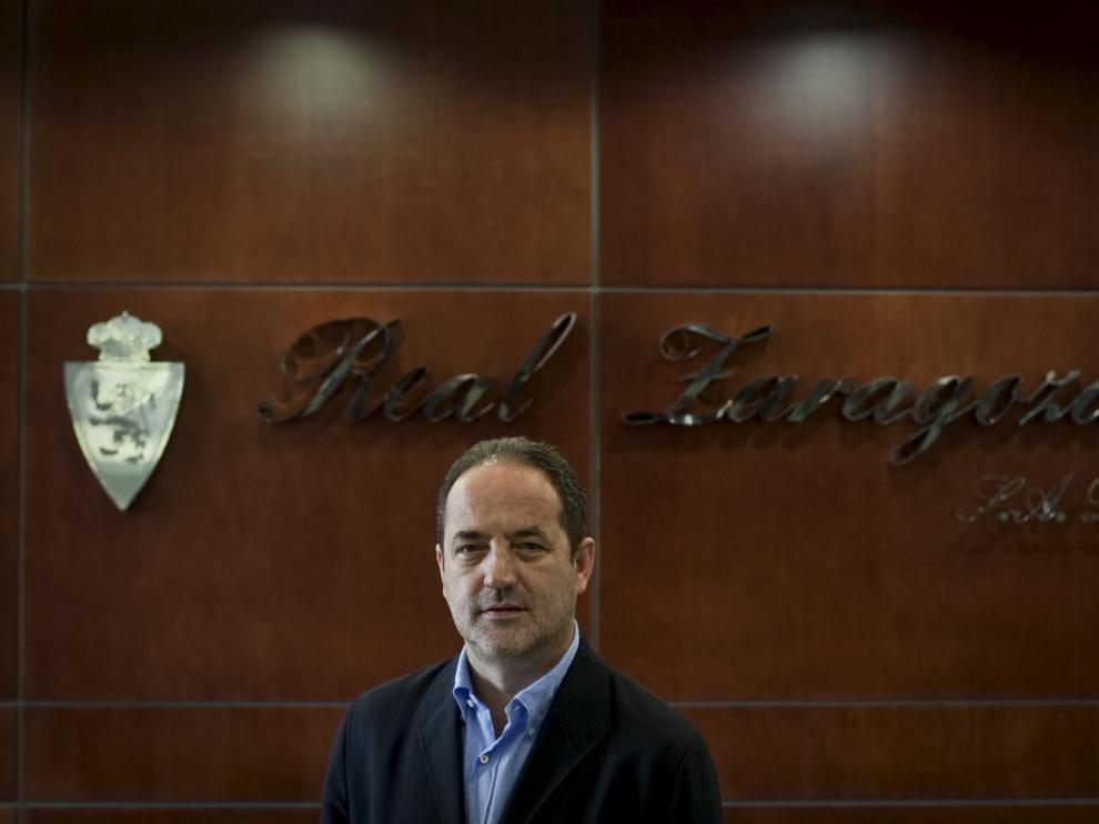 Agapito Iglesias, en las oficinas del Real Zaragoza