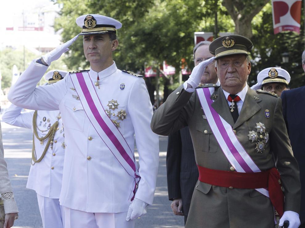 El rey Juan Carlos y el Príncipe de Asturias, al inicio del acto