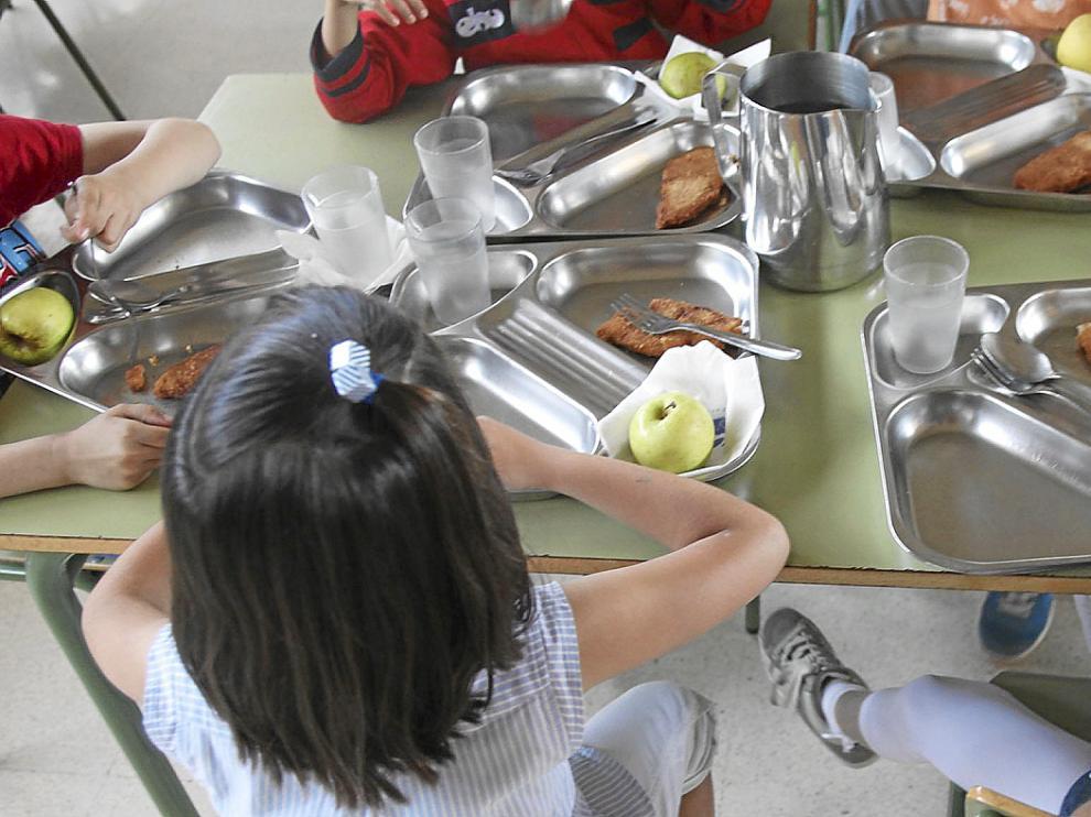 Un comedor escolar de Aragón.