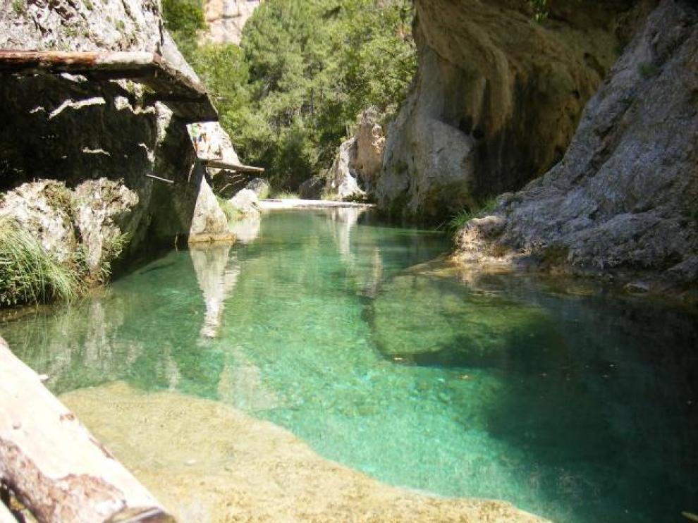El Matarraña esconde algunas de las más bellas pozas de todo Aragón.