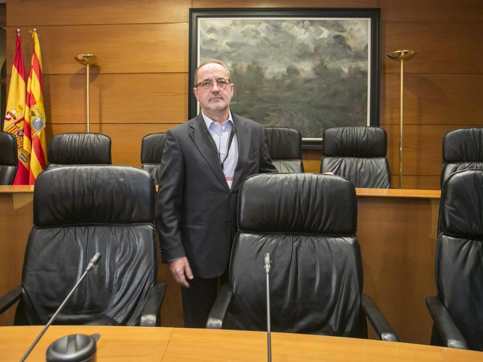 Agapito Iglesias, en las Cortes de Aragón, en una imagen de archivo