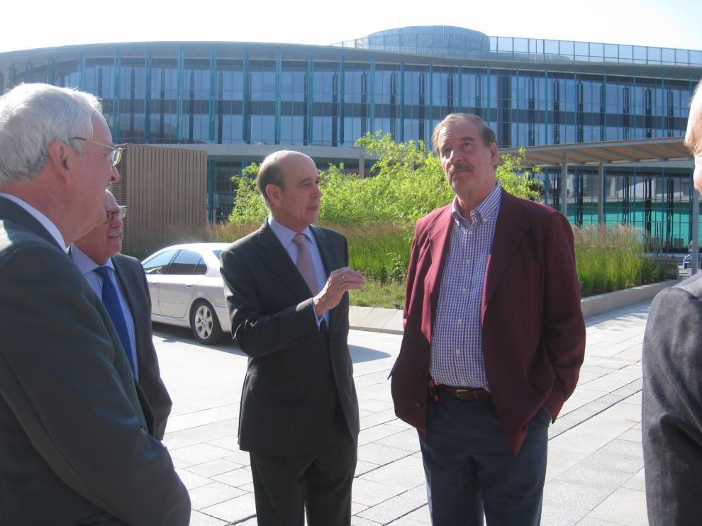 Vicente Fox y Fernández de Alarcón, en la Expo