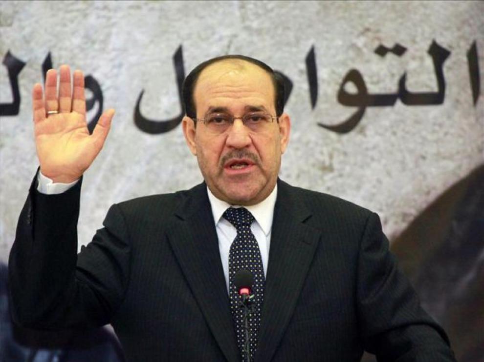 Al Maliki durante un acto
