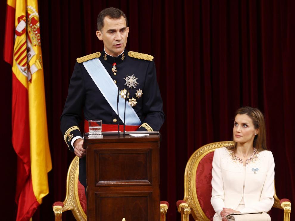 Felipe VI durante su discurso de coronación
