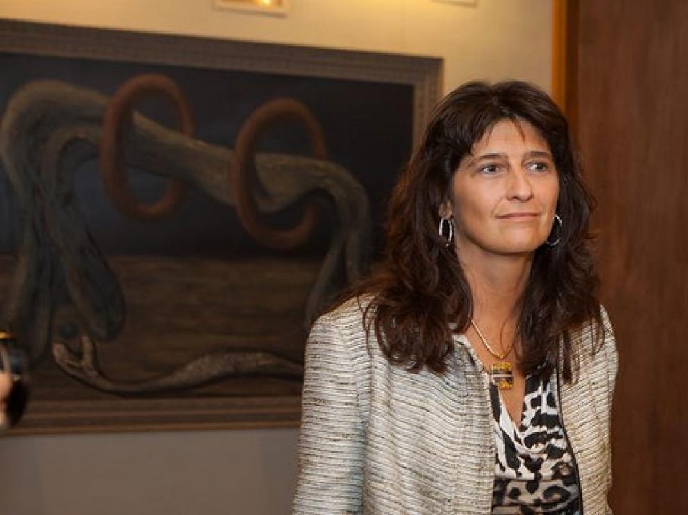 Carmen Dueso durante su comparecencia