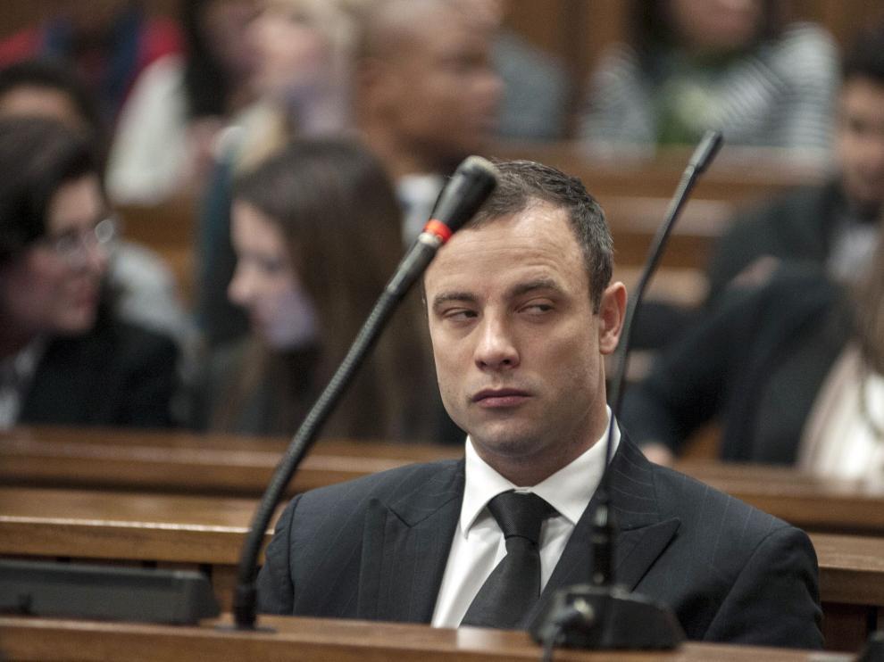 Pistorius, durante el juicio por el asesinato de su esposa.